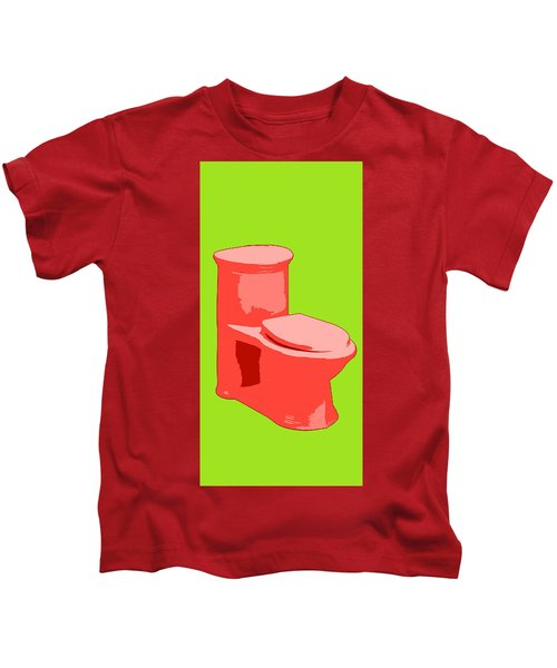Toilette In Red Kids T-Shirt