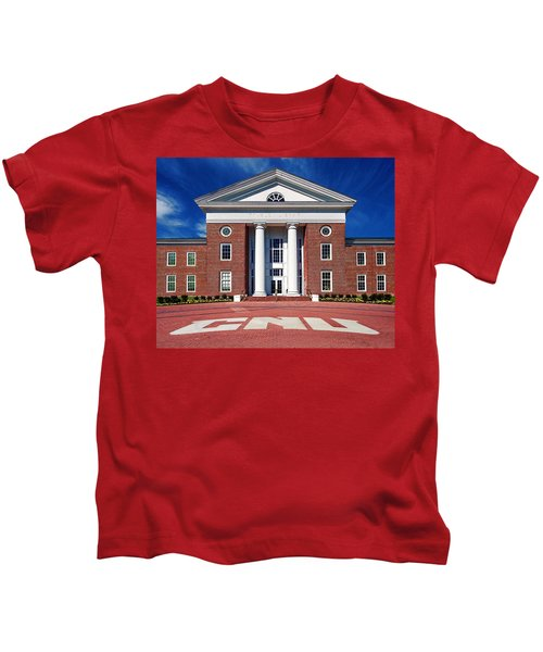 Trible Library Christopher Newport University Kids T-Shirt