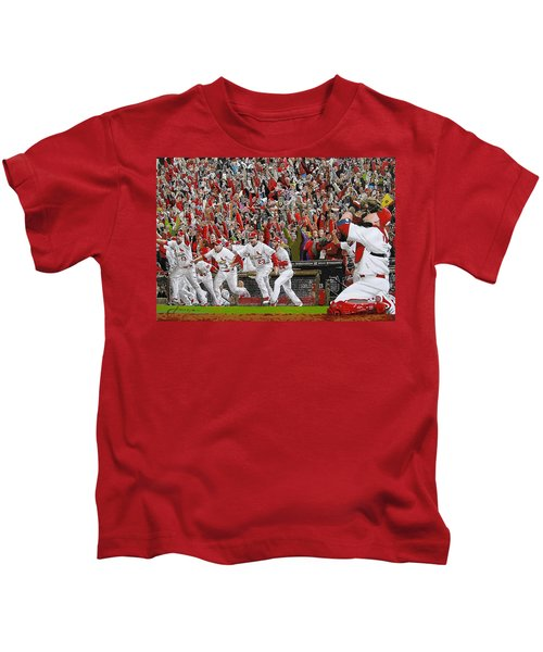 Victory - St Louis Cardinals Win The World Series Title - Friday Oct 28th 2011 Kids T-Shirt