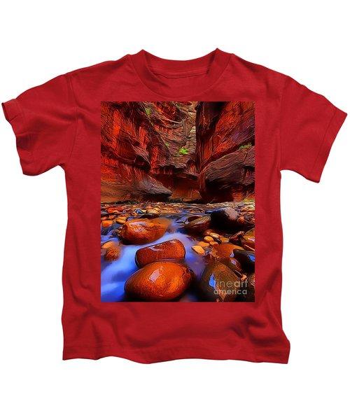 Water Runs Through It Kids T-Shirt