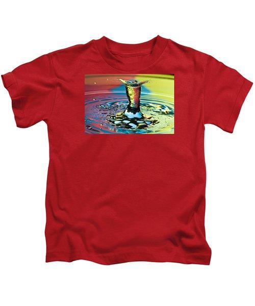 Water Splash Art Kids T-Shirt
