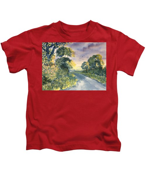 Wild Roses On The Wolds Kids T-Shirt