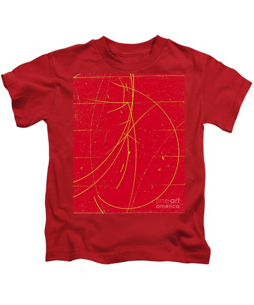 Particle Tracks In Cloud Chamber Kids T-Shirt