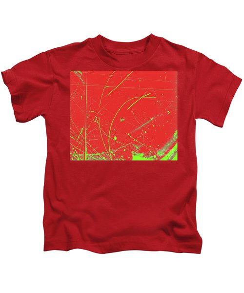Diffusion Cloud Chamber Tracks Kids T-Shirt