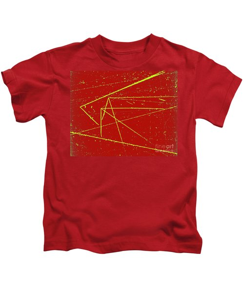 Nuclear Particle Tracks Kids T-Shirt