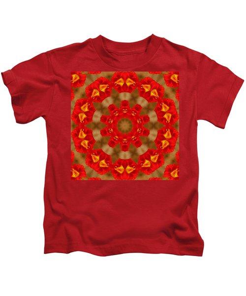 Day Lily Kaleidoscope Kids T-Shirt