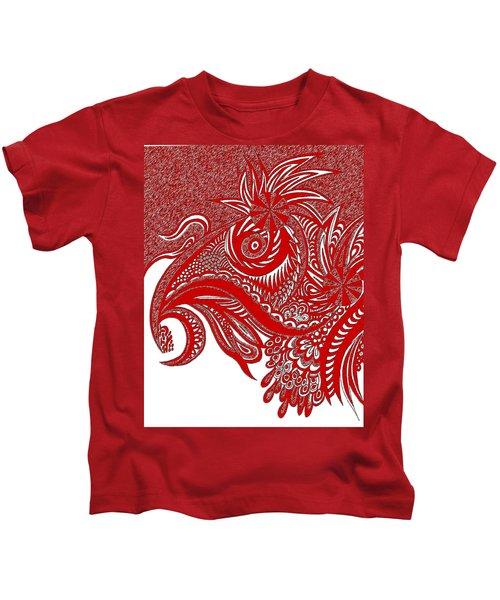 Red Chicken Kids T-Shirt