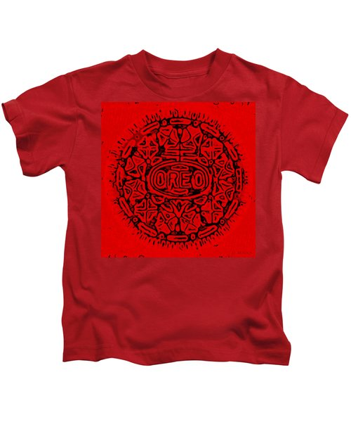 Red Oreo Kids T-Shirt