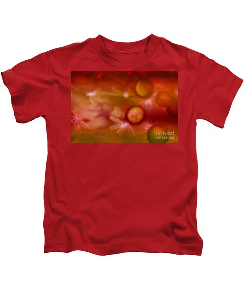 Red Pearl Dragon Fly Kids T-Shirt