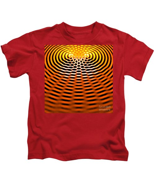 Waves Superpositioning 4 Kids T-Shirt