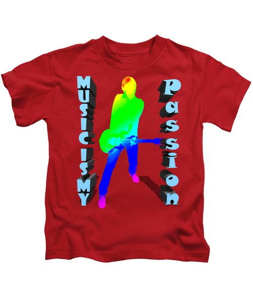 Music Is My Passion Kids T-Shirt