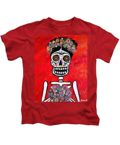 Frida Dia De Los Muertos Kids T-Shirt