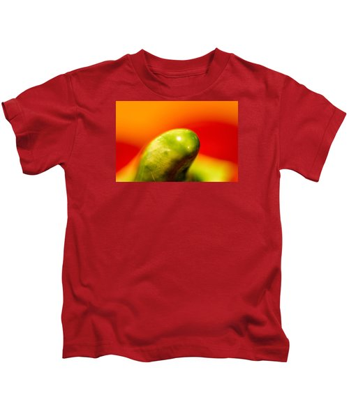 Green Red Liquid Clay Kids T-Shirt