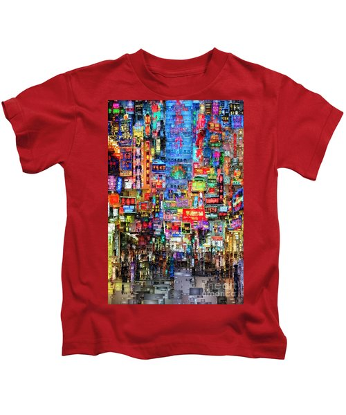Hong Kong City Nightlife Kids T-Shirt