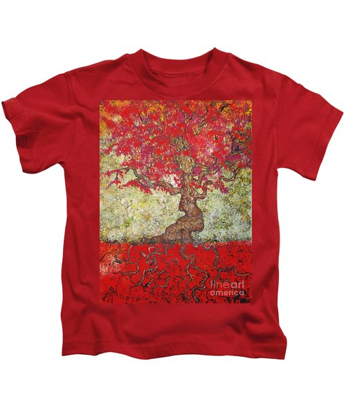 Lady In Red Kids T-Shirt