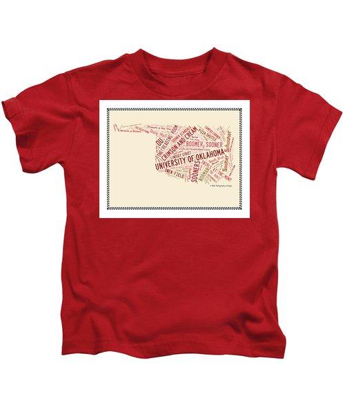Ou Word Art University Of Oklahoma Kids T-Shirt