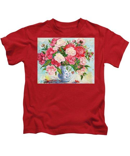 Peonies Kids T-Shirt