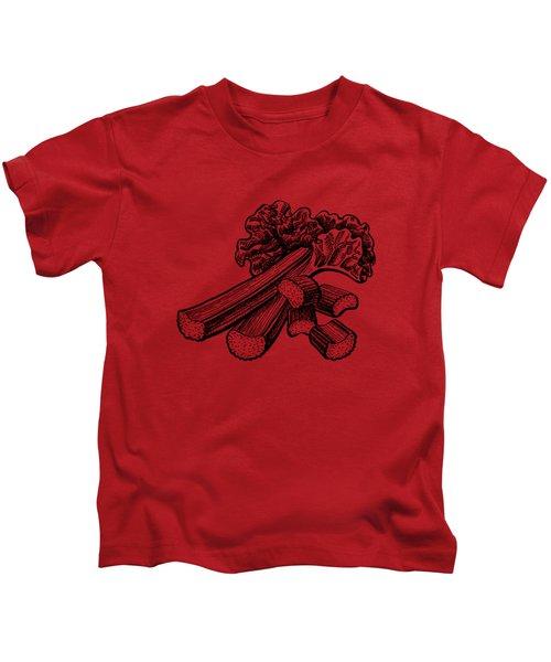 Rhubarb Stalks Kids T-Shirt