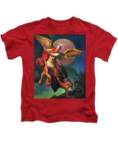 Saint Michael The Warrior Archangel Kids T-Shirt