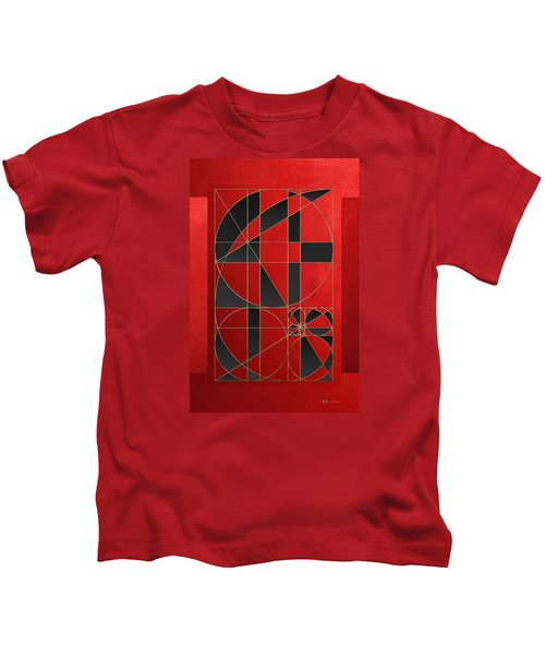 The Alchemy - Divine Proportions - Black On Red Kids T-Shirt