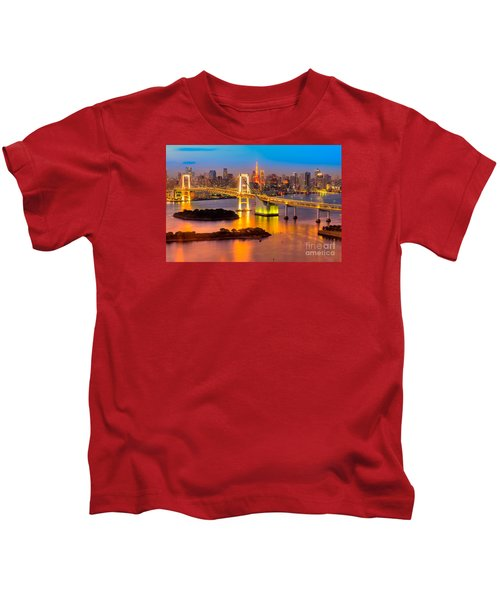 Tokyo - Japan Kids T-Shirt by Luciano Mortula