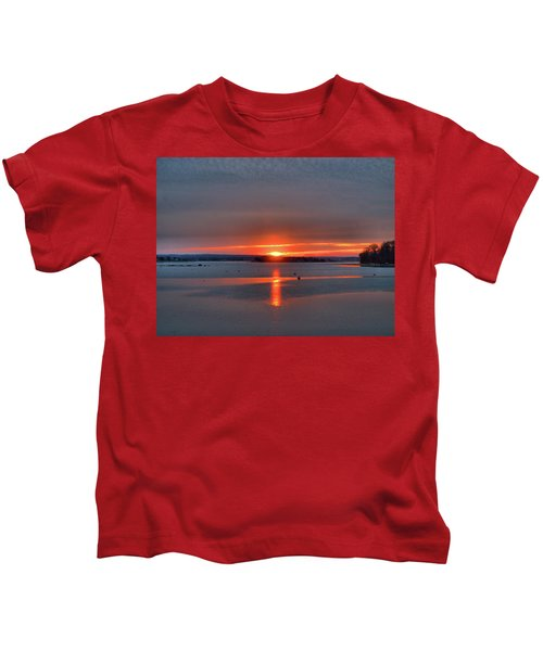 Winter Sunrise Kids T-Shirt