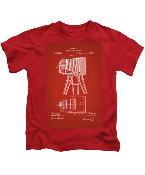 1885 Camera Us Patent Invention Drawing - Red Kids T-Shirt