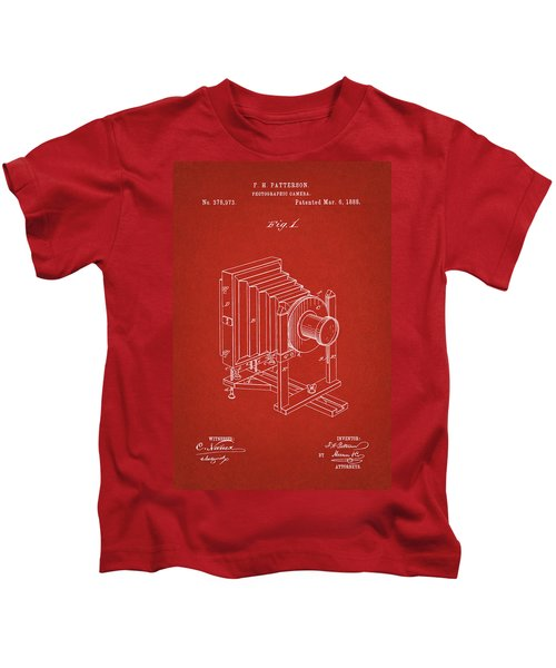 1888 Camera Us Patent Invention Drawing - Red Kids T-Shirt