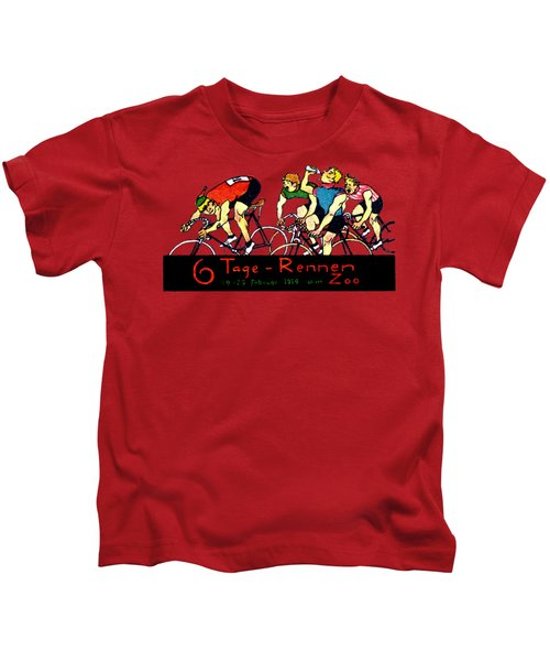 1914 Bicycle Race Poster Kids T-Shirt