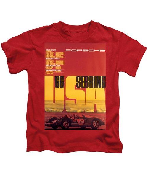1966 Porsche 12 Hours Of Sebring Kids T-Shirt