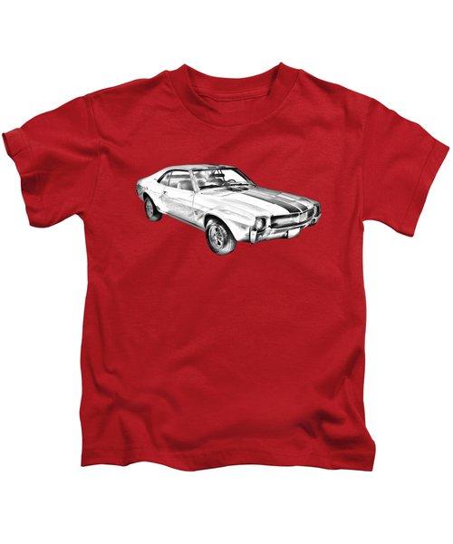 1969 Amc Javlin Car Illustration Kids T-Shirt