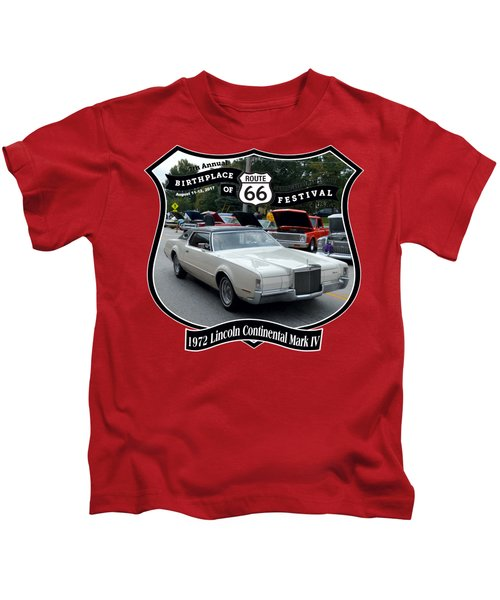 1972 Lincoln Continental Mark Iv Woyner Kids T-Shirt