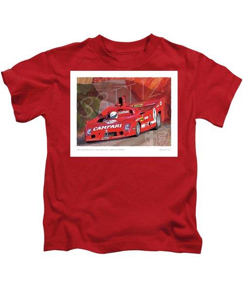 1975 Alfa Romeo 33-tt-12 Kids T-Shirt