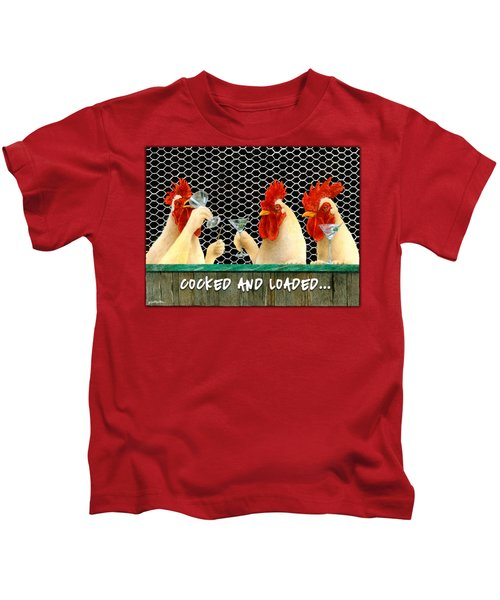 Cocked And Loaded... Kids T-Shirt by Will Bullas