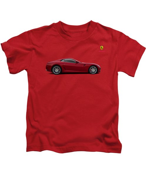 Ferrari 599 Gtb Kids T-Shirt by Douglas Pittman