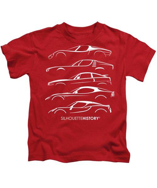 Lombard Sports Car Silhouettehistory Kids T-Shirt
