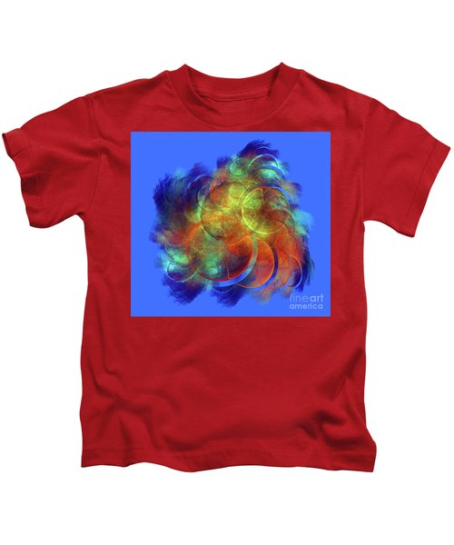 Multicolored Abstract Figures Kids T-Shirt
