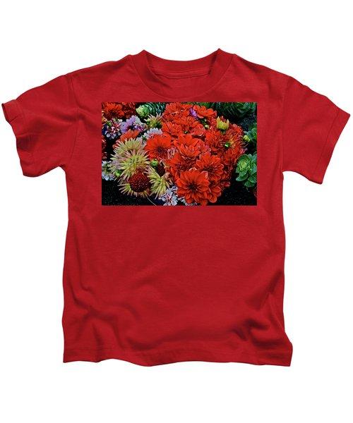 2017 Mid October Monona Farmers' Market Buckets Of Blossoms 1 Kids T-Shirt