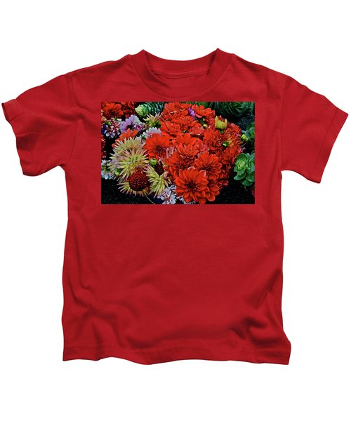 2017 Mid October Monona Farmers' Market Buckets Of Blossoms 1 Kids T-Shirt