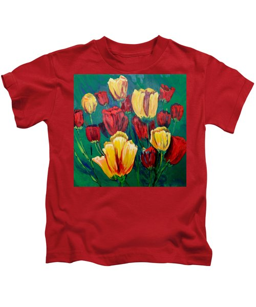 #25 Spring And Summer Floral Series Kids T-Shirt