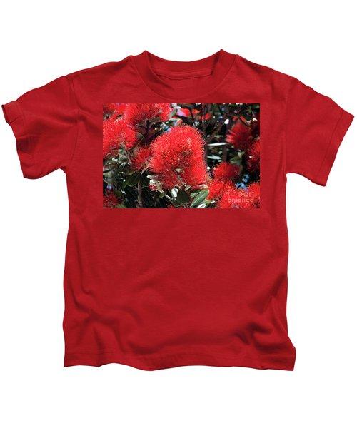 Pohutukawa Tree Flowers Kids T-Shirt
