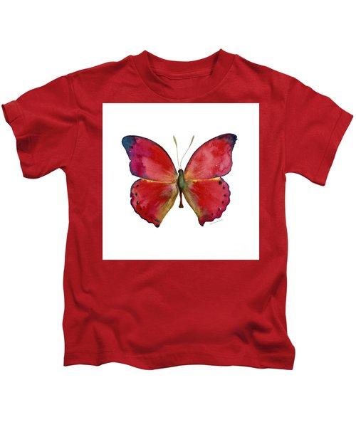 83 Red Glider Butterfly Kids T-Shirt