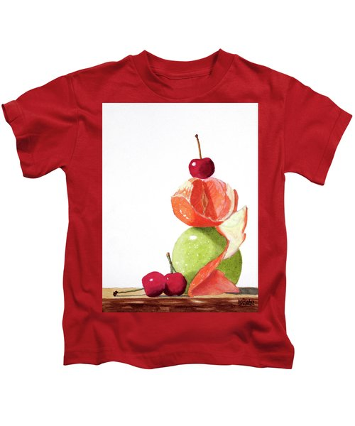 A Balanced Meal Kids T-Shirt