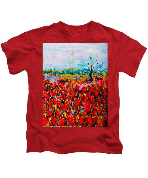 A Field Of Flowers # 2 Kids T-Shirt