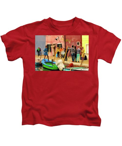 A Glamour Shoot In Burano Kids T-Shirt