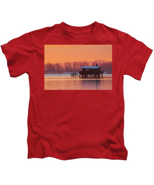 A Hut On The Water Kids T-Shirt
