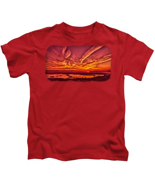 A New Maine Day Kids T-Shirt by John M Bailey