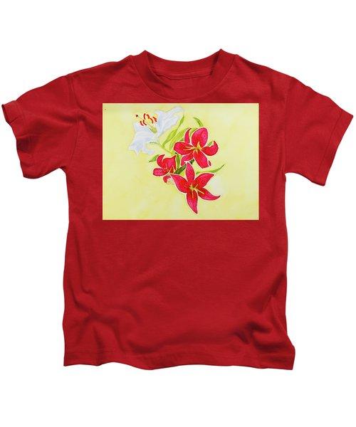 A Study Of Lilies Kids T-Shirt