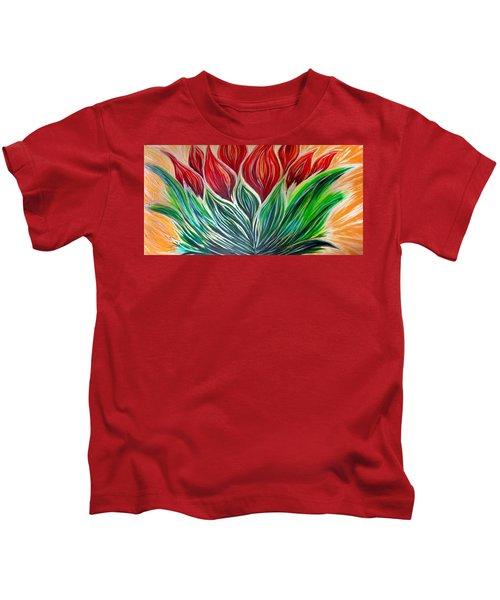 Abstract Lotus Kids T-Shirt