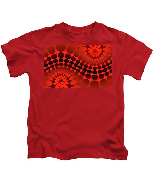 Abstract Red And Black Ornament Kids T-Shirt